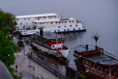 Στοκχόλμη, Σουηδία, σκάφη στην αποβάθρα Sodermalm Στοκ Εικόνες