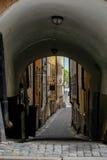 Στοκχόλμη, Σουηδία, στενές οδοί της παλαιάς πόλης Στοκ φωτογραφίες με δικαίωμα ελεύθερης χρήσης
