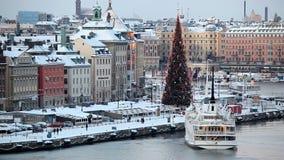 Στοκχόλμη το χειμώνα, Σουηδία απόθεμα βίντεο