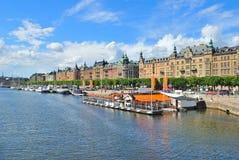 Στοκχόλμη. Όμορφη αποβάθρα σε Ostermalm Στοκ Εικόνες