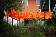 Στολές ποδοσφαίρου που ξεραίνουν στη γραμμή στην Κόστα Ρίκα Στοκ εικόνα με δικαίωμα ελεύθερης χρήσης