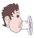 Στοματικό megaphone Στοκ Εικόνα