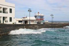 Στον κόλπο Arrieta, Lanzarote, Κανάρια νησιά Στοκ εικόνες με δικαίωμα ελεύθερης χρήσης