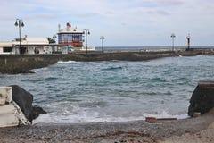 Στον κόλπο Arrieta, Lanzarote, Κανάρια νησιά Στοκ φωτογραφία με δικαίωμα ελεύθερης χρήσης