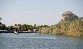 Στον ποταμό Dalyan, Τουρκία Στοκ Φωτογραφίες
