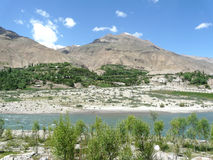 Στον ποταμό Panj στο Τατζικιστάν Στοκ Εικόνα