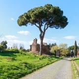 Στον τρόπο Appian Στοκ φωτογραφία με δικαίωμα ελεύθερης χρήσης