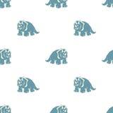 Στους άσπρους μπλε δεινοσαύρους υποβάθρου Στοκ φωτογραφία με δικαίωμα ελεύθερης χρήσης