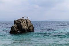 Στους βράχους στοκ εικόνα με δικαίωμα ελεύθερης χρήσης