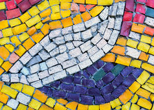 Στους τοίχους του χρωματισμένου κεραμιδιού Στοκ Φωτογραφίες