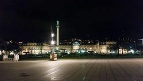 Στουτγάρδη τή νύχτα Στοκ εικόνες με δικαίωμα ελεύθερης χρήσης