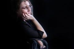 στοχαστική γυναίκα Στοκ εικόνες με δικαίωμα ελεύθερης χρήσης