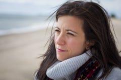 Στοχαστική γυναίκα Στοκ φωτογραφίες με δικαίωμα ελεύθερης χρήσης