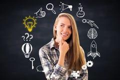 Στοχαστική επιχείρηση κοριτσιών doodle Στοκ φωτογραφίες με δικαίωμα ελεύθερης χρήσης