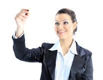 Στοχαστική επιχειρησιακή γυναίκα Στοκ φωτογραφία με δικαίωμα ελεύθερης χρήσης