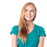 Στοχαστική όμορφη νέα γυναίκα Στοκ φωτογραφία με δικαίωμα ελεύθερης χρήσης