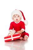 Στοχαστικός λίγος Άγιος Βασίλης με παρουσιάζει. Στοκ φωτογραφίες με δικαίωμα ελεύθερης χρήσης