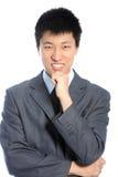 Στοχαστικός ασιατικός επιχειρηματίας Στοκ φωτογραφία με δικαίωμα ελεύθερης χρήσης