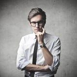 Στοχαστικός επιχειρηματίας Στοκ εικόνες με δικαίωμα ελεύθερης χρήσης