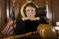 Στοχαστικός θηλυκός δικαστής Στοκ Φωτογραφίες