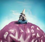 Στοχαστικός στον εγκέφαλο στοκ εικόνες