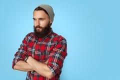 Στοχαστικό άτομο hipster που κοιτάζει μακριά Στοκ εικόνα με δικαίωμα ελεύθερης χρήσης