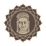 Στοχαστικό λουλούδι λωτού του Βούδα στοκ φωτογραφία με δικαίωμα ελεύθερης χρήσης