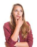 Στοχαστικό νέο κορίτσι Στοκ εικόνες με δικαίωμα ελεύθερης χρήσης