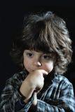 Στοχαστικό παιδί Στοκ εικόνες με δικαίωμα ελεύθερης χρήσης