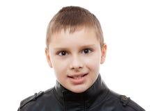 Στούντιο πορτρέτου κινηματογραφήσεων σε πρώτο πλάνο ματιών αγοριών παιδιών που απομονώνεται στοκ φωτογραφία