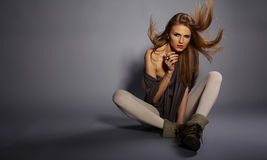 στούντιο πορτρέτου μόδας Στοκ φωτογραφία με δικαίωμα ελεύθερης χρήσης