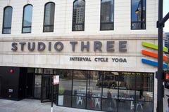 Στούντιο τρία γιόγκα Σικάγο, Ιλλινόις στοκ εικόνες