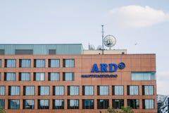 Στούντιο ARD, δημόσιος τηλεοπτικός σταθμός Στοκ Εικόνες