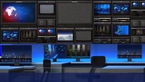 Στούντιο 101C2 ειδήσεων (στενός επάνω) ελεύθερη απεικόνιση δικαιώματος