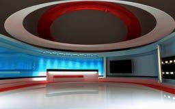 Στούντιο TV Στούντιο ειδήσεων, σύνολο στούντιο Στοκ Εικόνα