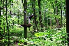 Στο δάσος αναρρίχησης Στοκ εικόνα με δικαίωμα ελεύθερης χρήσης