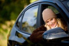 Στο αυτοκίνητο Στοκ εικόνα με δικαίωμα ελεύθερης χρήσης