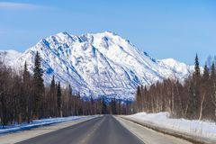 Στο δρόμο σε Fairbanks Στοκ Εικόνα