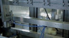 Στο εργοστάσιο τα κενά μπουκάλια πλένονται με το καθαρό νερό αυτόματα απόθεμα βίντεο