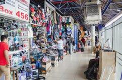 Στο εσωτερικό του τοπικού εμπορίου αποκαλούμενου Camelodromo de Campo Grande Στοκ Εικόνα
