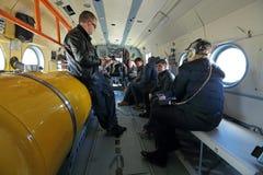 Στο ελικόπτερο Στοκ Φωτογραφίες