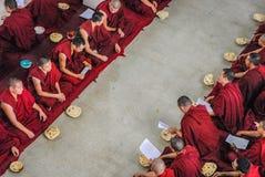 Στο θιβετιανό ναό Στοκ εικόνα με δικαίωμα ελεύθερης χρήσης