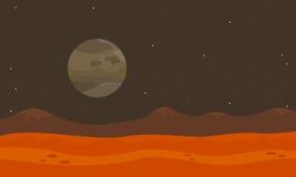 Στο διάνυσμα τοπίων ερήμων πλανητών Στοκ Φωτογραφίες