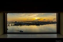 Στο κέντρο της πόλης άποψη παραλιών του Μαϊάμι ανατολής του Μαϊάμι στοκ εικόνες