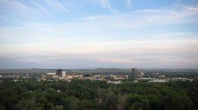 Στο κέντρο της πόλης Ηνωμένες Πολιτείες της Βόρειας Αμερικής οριζόντων πόλεων της Μοντάνα Bozeman Στοκ Εικόνες