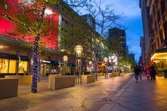 Στο κέντρο της πόλης λεωφόρος οδών του Ντένβερ Κολοράντο 16η Στοκ φωτογραφία με δικαίωμα ελεύθερης χρήσης