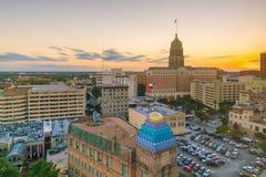 Στο κέντρο της πόλης ορίζοντας του San Antonio Στοκ Εικόνες