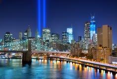 Στο κέντρο της πόλης πόλη της Νέας Υόρκης Στοκ Εικόνες