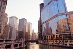 Στο κέντρο της πόλης Σικάγο Στοκ Εικόνες