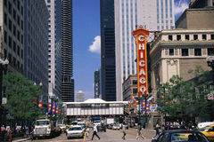 Στο κέντρο της πόλης Σικάγο στοκ φωτογραφίες με δικαίωμα ελεύθερης χρήσης